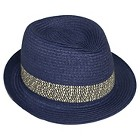 Toddler Girls' Paper Braid Fedora-Navy