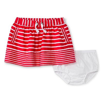 Baby Girls' Striped Mini Skirt Red 18M - Genuine Kids from Oshkosh™