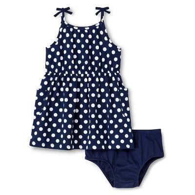 Baby Girls' Polka Dots Dress Blue 12M - Genuine Kids from Oshkosh™