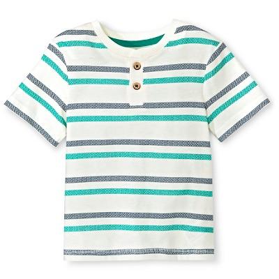 Baby Boys' Henley Shirt - Shell 12M - Genuine Kids™ from OshKosh®