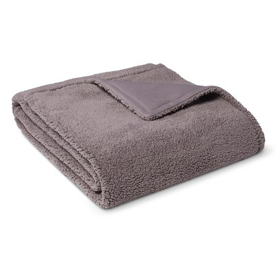 Bed Blanket Sherpa Full/Queen Gray - Room Essentials™