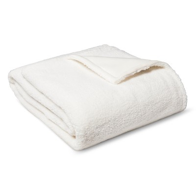 Bed Blanket Sherpa Full/Queen Ivory - Room Essentials™