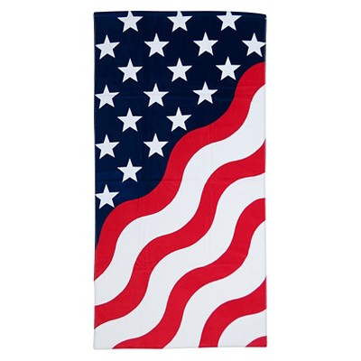 Americana Beach Towel for Two - Evergreen