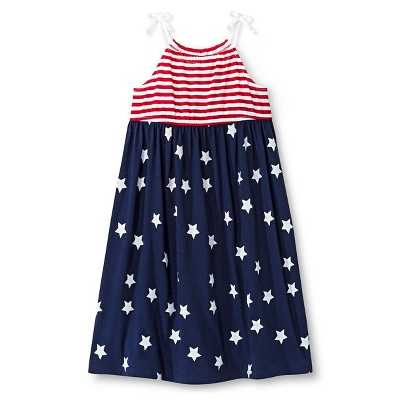 Baby Girls' 4th of July Stripes and Stars Dress Red/Blue 18 M - Circo™