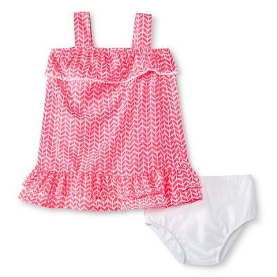 Baby Girls' Ruffle Layered Dress Pink Print 3-6M - Cherokee®