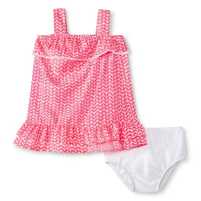 Cherokee® Baby Girls' Ruffle Layered Dress - Pink Print 6-9M