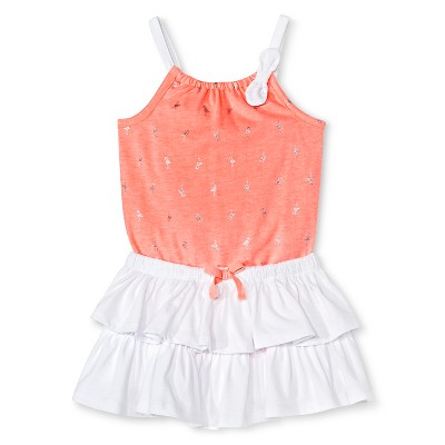 Cherokee® Baby Girls' Bodysuit Top and Skirt Set - Pink/White 3-6 M