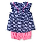 Baby Girls' Print Tunic Top and Bloomer Short Set Medallion Print/Pink - Cherokee®