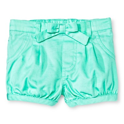 Newborn Girls' Chino Shorts - Green 0-3M