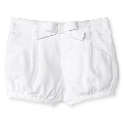 Newborn Girls' Chino Shorts - White 0-3M