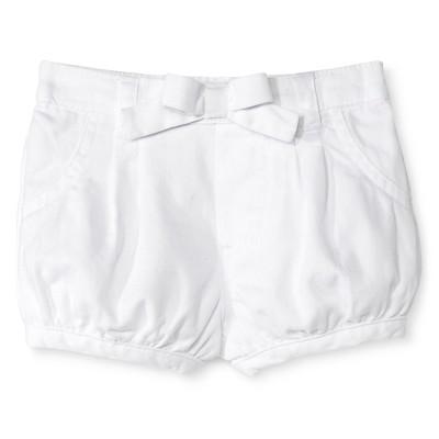 Newborn Girls' Chino Shorts - White 3-6M