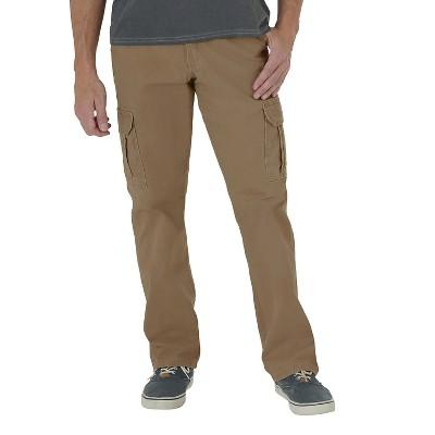 Wrangler® Men's Loose Fit Twill Cargo Pant Acorn 38x30