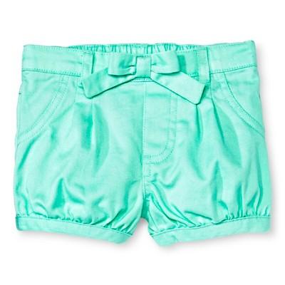 Newborn Girls' Chino Shorts - Green 24M