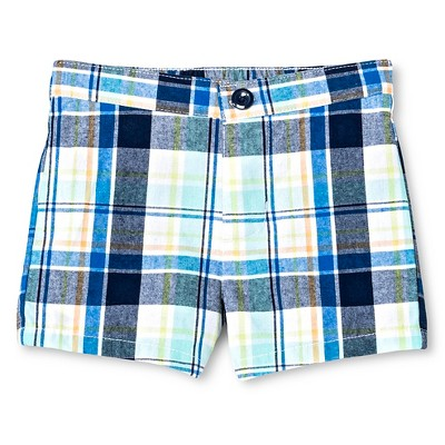 Newborn Boys' Trouser Shorts - Plaid 6-9M