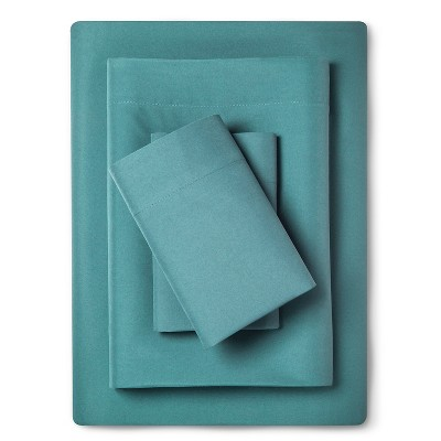 Sheet Set Microfiber with Storage Pocket Full Teal - Room Essentials™