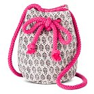 Girls' Wreath Pattern Bucket Bag Ivory - Xhilaration™