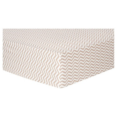 Trend Lab Deluxe Chevron Flannel Fitted Crib Sheet - Doe