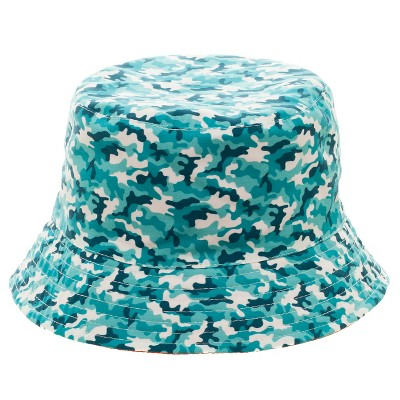 Boys' Reversible Camouflage Bucket Hat - Multicolored 4-16