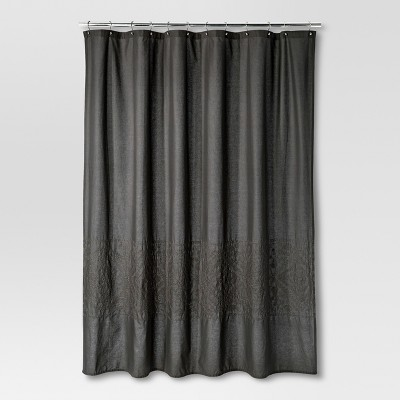 Threshold™ Shower Curtain - Hot Coffee Embroidery