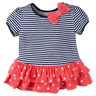 Gerber® Toddler Girls' Stripe Tunic - Blue 24 M