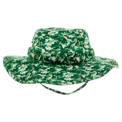 Boys' Camouflage Outback Bucket Hat - Green 4-16
