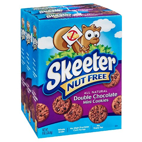 Skeeter Nut Free® All Natural Double Chocolate Mini Cookies 8 oz 3 ...