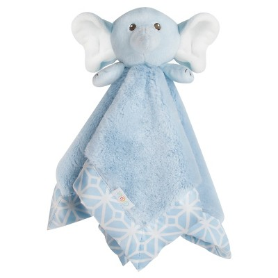 CoCaLo Connor Plush Security Blanket - Blue Elephant