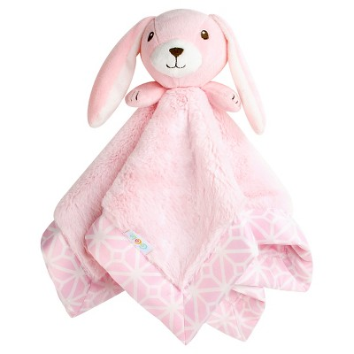 CoCaLo Audrey Plush Security Blanket - Pink Bunny