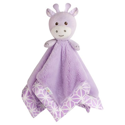 CoCaLo Violet Plush Security Blanket - Lavender Giraffe