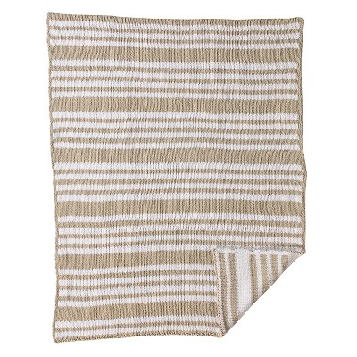 CoCaLo Chenille Knitted Blanket - Stripe - Gray
