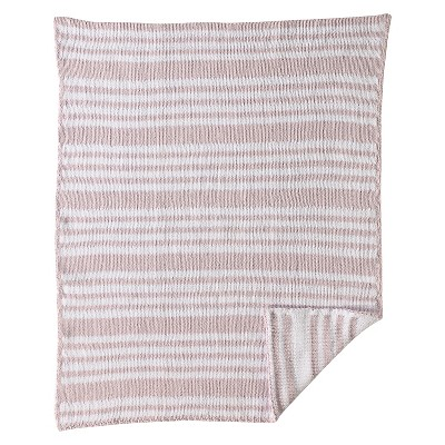 CoCaLo Chenille Knitted Blanket - Stripe - Orchid Hush