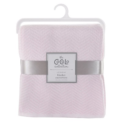 CoCaLo Herringbone Knitted Blanket - Petal Pink