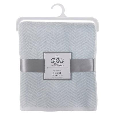 CoCaLo Herringbone Knitted Blanket - Starlight Blue