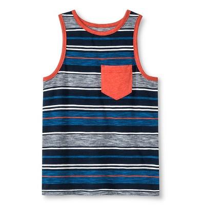 Toddler Boys' Stripe Tank Top - Dressy Blue 3T - Genuine Kids™ from OshKosh®