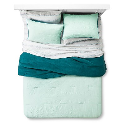 Bedding Set Plush Textured Queen Mint - Room Essentials™