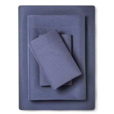 Sheet Set Microfiber with Storage Pocket Queen Washed Indigo - Room Essentials™