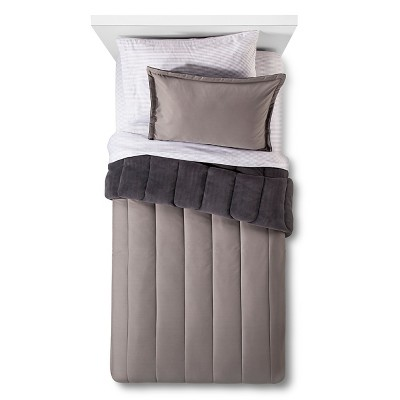 Bedding Set Quilted Solid Queen Gray - Room Essentials™