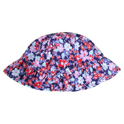 Baby Girls' Floral Bucket Hat Navy 12-24M