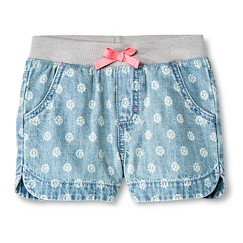 Toddler Girls' Floral Jean Short Light Wash - Cherokee®