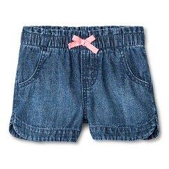 Toddler Girls' Denim Jean Short Medium Wash - Cherokee®