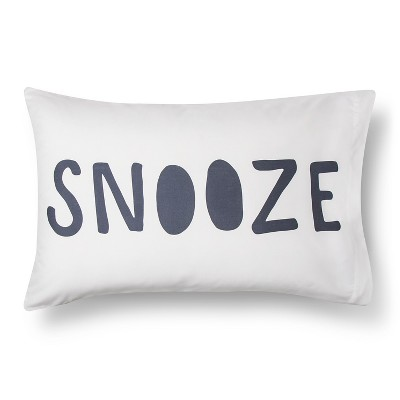 Pillowcase Microfiber Reversible Snooze Standard White - Room Essentials™