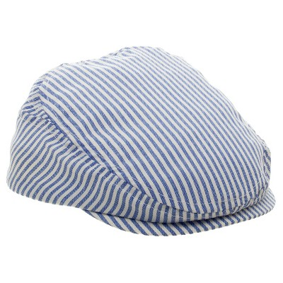 Baby Boys' Striped Driving Cap Dark Blue/White 12-24M