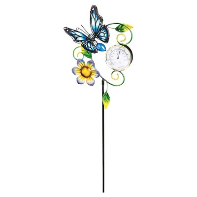 Butterfly Garden Thermometer Sky Multi-Colored - Evergreen
