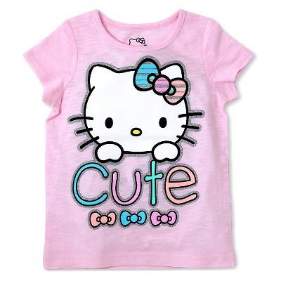 Hello Kitty Baby Girls' Short Sleeve Tee - Pink 12M