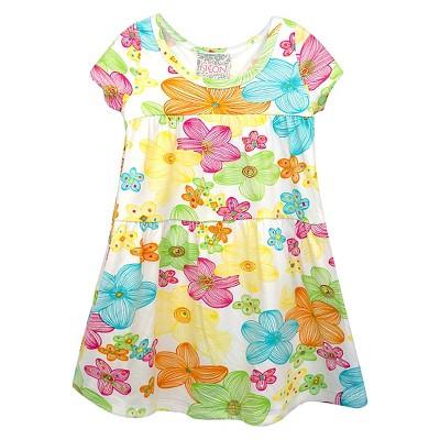 Sara Sara Neon Baby Girls' Floral Dress - Multicolored 12M