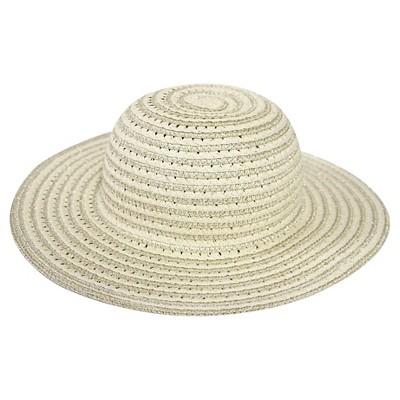 Girls' Paper Braid Floppy Hat Tan  12-24 M - Cherokee®