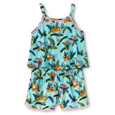 Baby Girls' Romper Aqua 18M - Cherokee®