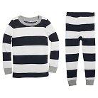 Burt's Bees Baby Toddler Boys' Stripe 2-Piece Pajama Set - Blue 7