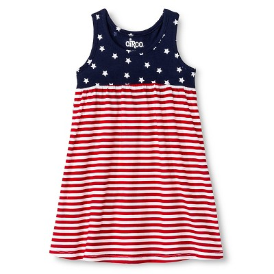 Baby Girls' 4th of July Stars and Stripes Dress Navy Blue 18M - Circo™