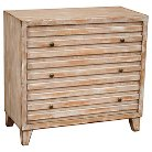 Piper Accent Storage Console with Three Drawers Natural Distressed - Home Meridian